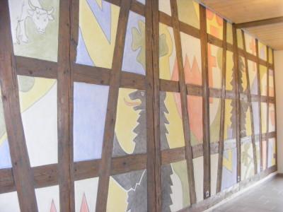 Eingangshalle des Dietinger Rathauses