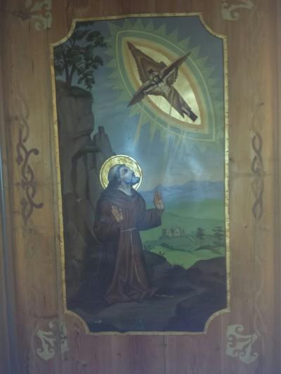 Deckenbild im ursprünglichen Andachtsraum, der gerade sehr liebevoll renoviert wird