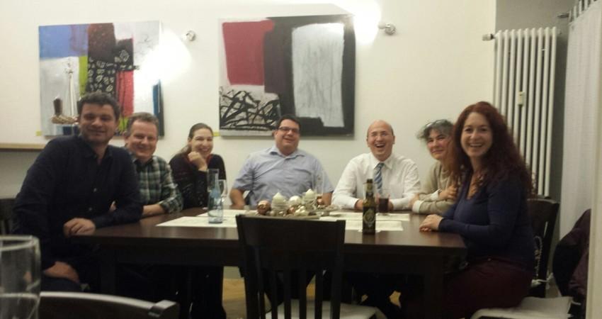 v.l.n.r.: Vadim Maier, Frank Danner, Benita Madsen, Rüdiger Kirn, Frank Bühler, Helga Schon, Sonja Rajsp